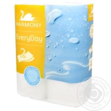 Полотенца бумажные Harmony Everyday двухслойные 2шт