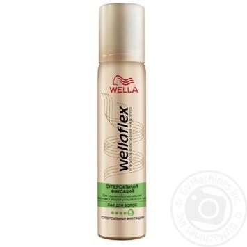 Лак для волос Wella Wellaflex суперсильная фиксация 75мл - купить, цены на МегаМаркет - фото 1