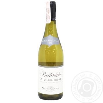 Вино M.Chapoutier Cotes du Rhone Belleruche біле сухе 13,5% 0,75л