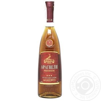 Коньяк Gocha Aragveli Premium 3 года 40% 0,5л - купить, цены на Фуршет - фото 1