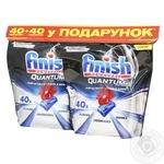 Таблетки для посудомоечных машин Finish Powerball Quantum Ultimate 40+40шт.