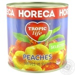 Tropic Life Peach Halves in Syrup 2.65kg