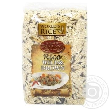 World's Rice long grain brown and wild groats rice 500g - buy, prices for Auchan - photo 1