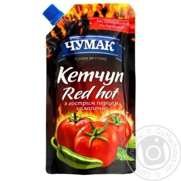 Кетчуп Чумак Red hot с острым перцем халапеньо 280г - купить, цены на Novus - фото 1