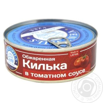Килька Ventspils в томатном соусе 240г - купить, цены на Ашан - фото 1