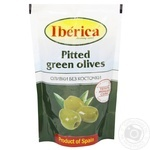 Iberica Pitted Green Olives 170g - buy, prices for Furshet - image 1