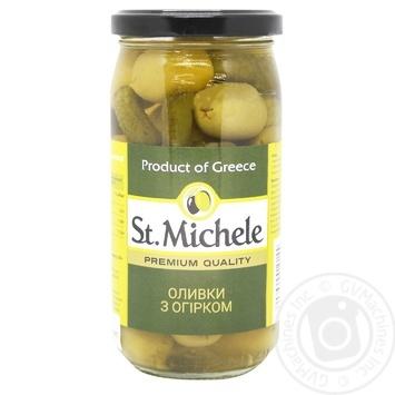 Оливки St.Michele с огурцом 380г - купить, цены на Novus - фото 1