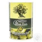 Оливки Olive Line відбірні з кісточкою 420г - купити, ціни на Novus - фото 1