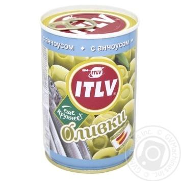 Оливки ITVL зеленые с анчоусом 314мл - купить, цены на МегаМаркет - фото 1