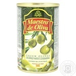 Оливки Maestro de Oliva с огурцом 300г - купить, цены на Novus - фото 1