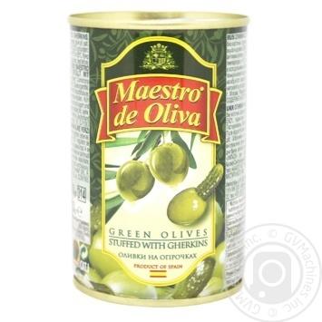 Оливки Maestro de Oliva з огірком 300г - купити, ціни на Восторг - фото 1