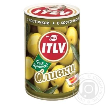 Оливки ITLV зеленые с косточкой 314мл - купить, цены на МегаМаркет - фото 1