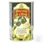 Оливки зелені Maestro de Oliva з сиром 300мл - купити, ціни на Восторг - фото 1