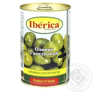 Оливки Иберика с косточкой 300г - купить, цены на Novus - фото 1