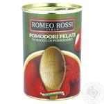 Томаты очищенные Romeo Rossi в собственном соку 400г