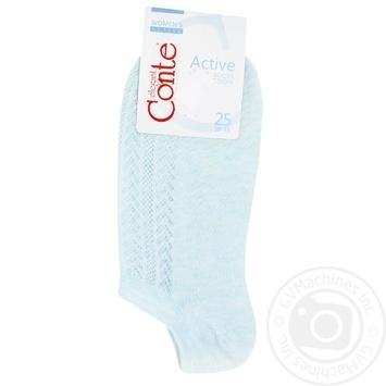 Шкарпетки жіночі Conte Elegant Active ультракороткі блідо-бірюзовий розмір 25 - купить, цены на УльтраМаркет - фото 1