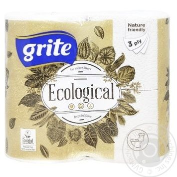 Grite Toilet Paper Three-Layer 4pcs - buy, prices for Auchan - image 1