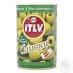 Оливки ITLV зелені без кісточки 314мл