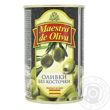 Оливки Maestro de Olivia без косточки 300г - купить, цены на Novus - фото 1