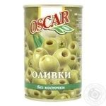 Oscar Pitted Green Olives 300ml
