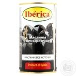 Iberica Pitted Big Black Olives 360ml - buy, prices for MegaMarket - image 1