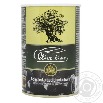 Olive Line Selected Pitted Black Oloves 420g - buy, prices for MegaMarket - image 1