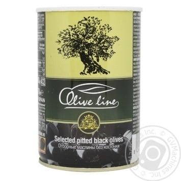 Маслини Olive Line відбірні без кісточки 420г - купити, ціни на Novus - фото 1