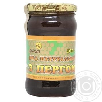 Мед Бартник натуральный с пергой 400г - купить, цены на МегаМаркет - фото 1