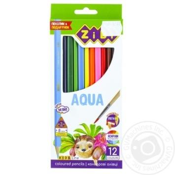 Олівці кольорові ZiBi Kids Line Акварель 12шт - купити, ціни на CітіМаркет - фото 1