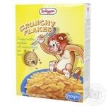 Хлопья кукурузные Bruggen Crunchy Flakes сладкие с арахисом и мёдом витаминизированные 250г