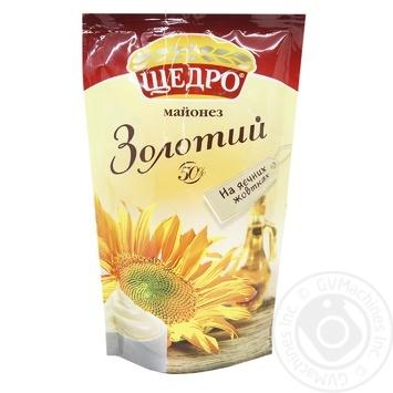 Майонез Щедро Золотой 50% 150г - купить, цены на Novus - фото 1
