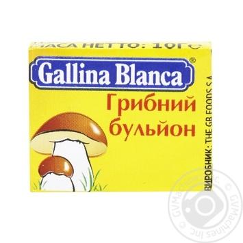 Приправа Gallina Blanca Грибной бульон 10г - купить, цены на Ашан - фото 1