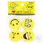 Vgr Eraser Smile 4pcs assortment