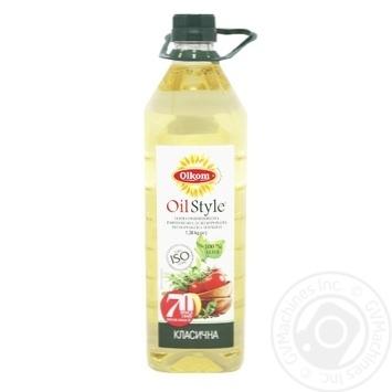 Масло Олком подсолнечное рафинированное 1.5л - купить, цены на Novus - фото 1