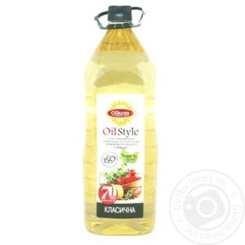 Масло Олком подсолнечное рафинированное 3л - купить, цены на Novus - фото 1