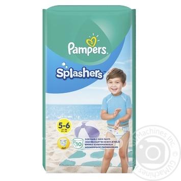 Подгузники-трусики Pampers Splashers Junior для плаванья 12-17кг 10шт - купить, цены на Восторг - фото 1