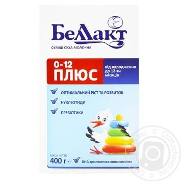 Смесь молочная Беллакт Плюс детская сухая с рождения до 1 года 400г - купить, цены на ЕКО Маркет - фото 1