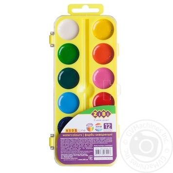 ZiBi Watercolor Paints 12 Colors - buy, prices for CityMarket - photo 2