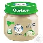 Vegetable puree Gerber cauliflower starch and salt free for 4+ month babies 80g