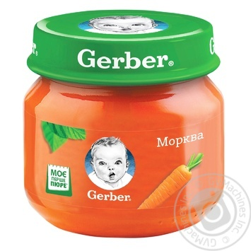 Пюре Gerber морковь 80г - купить, цены на Novus - фото 1