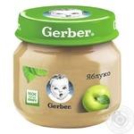 Fruit puree Gerber apple for 4+ months babies 80g