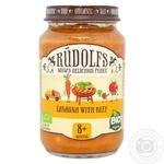 Puree Rudolfs vegetable veal for children from 8 months 190g glass jar