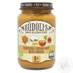 Puree Rudolfs vegetable with cheese for children from 8 months 190g glass jar