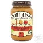 Puree Rudolfs vegetable salmon for children from 8 months 190g glass jar
