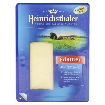 Сыр Heinrichsthaler Эдам нарезка 40% 150г