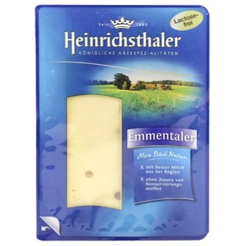 Heinrichsthaler Cheese Emmental sliced 45% 125g - buy, prices for CityMarket - photo 1