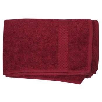 Towel Terry Border 70х140см red - buy, prices for MegaMarket - image 1