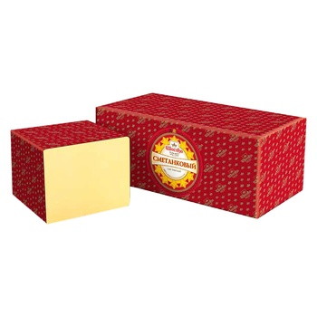 Сыр Сметанковый Шостка 50% весовой
