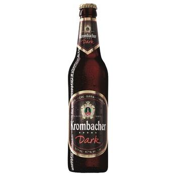 Пиво Krombacher темное 4.3% 0,5л - купить, цены на МегаМаркет - фото 1