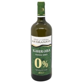 Вино безалкогольное Kehrуba Bayan Sire белое полусладкое 0,75л